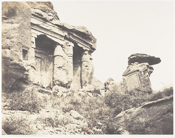 Djébel Selséleh (Silsilis), Steles Architecturales Taillées Dans les Carriéres