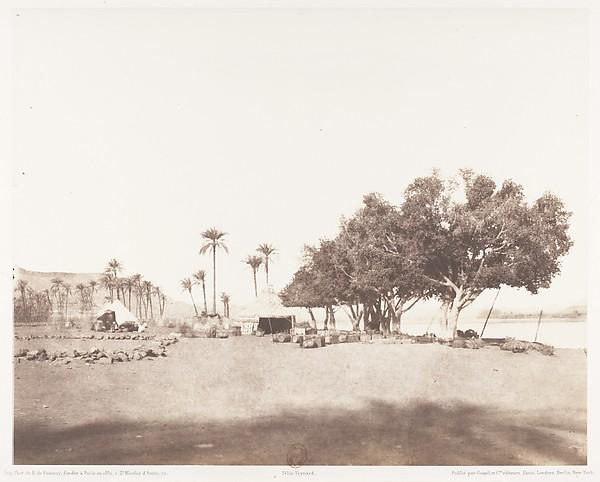 Korósko, Sycomores et Campement d'une Caravane pour le Sennâr