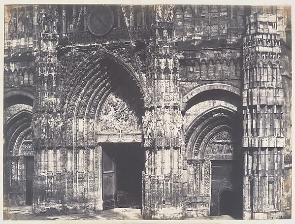 Bas du Portail, Côté de la Place, Cathédrale de Rouen