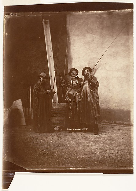 [The Artist, His Mother, and Friends in Fishing Garb]