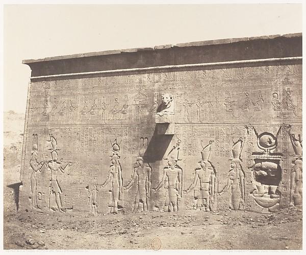 Dendérah (Tentyris), Temple d'Athôr - Face Postérieure