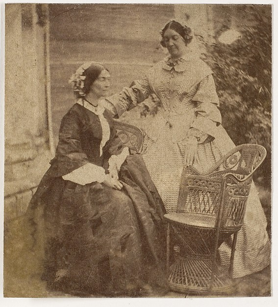 [Countess Canning with Guest, Government House, Allahabad]