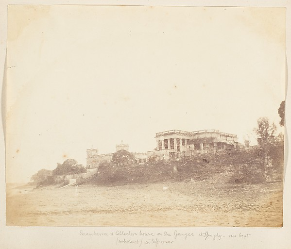 Fascinating Historical Picture of Unknown with [Imambara and Collectors House on the Ganges Hooghly] in 1850
