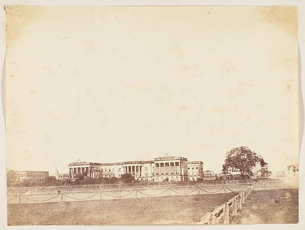 Fascinating Historical Picture of Unknown with Government House Calcutta in 1850