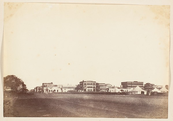 Fascinating Historical Picture of Unknown with [A View in Calcutta Including the Buildings of Payne and Co. the Mountain Hotel and Scott and Co.] in 1850
