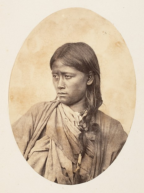 Fascinating Historical Picture of Unknown with [Bust Portrait of an Indian Woman] in 1850