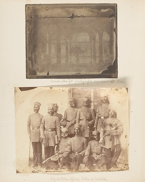 Fascinating Historical Picture of Unknown with Second Attempt to Photograph Our Room at Delhi in 1850