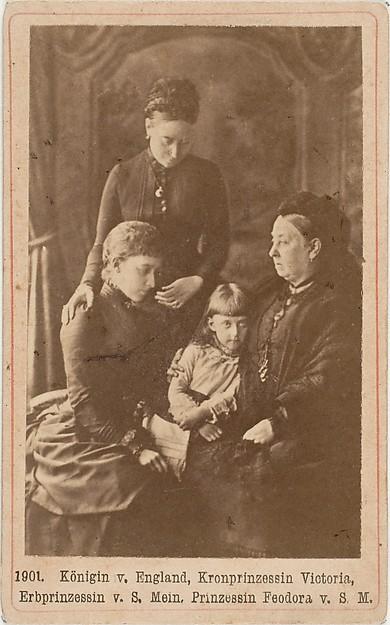 Königin v. England, Kronprinzessin Victoria, Erbprinzessin v. S. Mein, Prinzessin Feodora v. S. M.