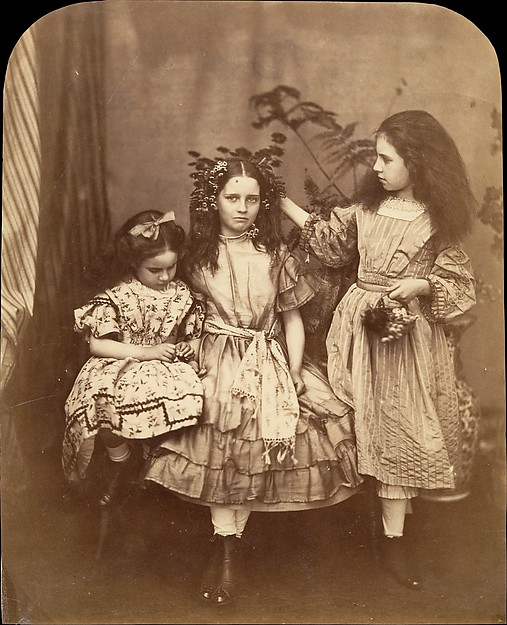 Fascinating Historical Picture of Lewis Carroll with Flora Rankin Irene MacDonald and Mary Josephine MacDonald at Elm Lodge on 7/15/1863