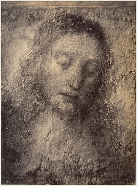 """Leonardo da Vinci, Drawing for Christ in """"The Last Supper"""""""