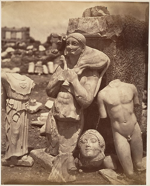 [The Calf-Bearer and the Kritios Boy Shortly After Exhumation on the Acropolis]