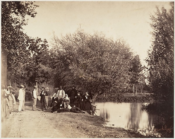 [Group near the Mill at Petit-Mourmelon]