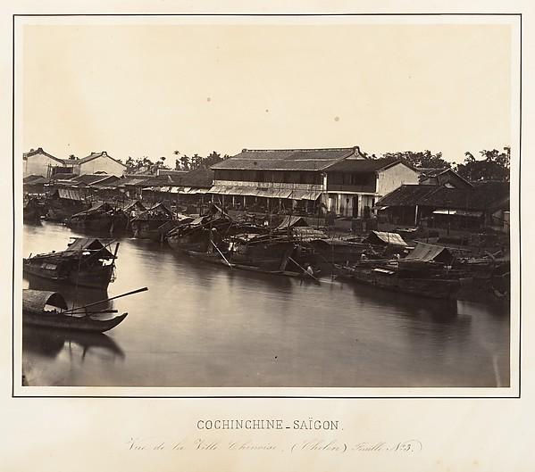 Vue de la Ville Chinoise (Cholen) Feuille No. 3, Saïgon, Cochinchine