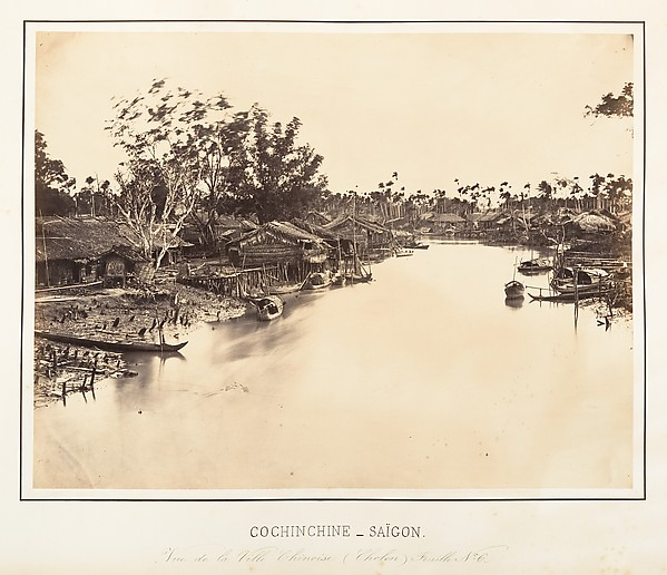 Vue de la Ville Chinoise (Cholen) Feuille No. 6, Saïgon, Cochinchine