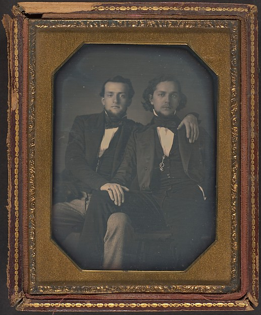 Fascinating Historical Picture of Unknown with [Two Young Men] in 1850