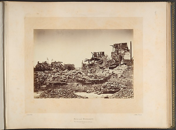 Neuilly Bombarded. General View of the rue de Chezy
