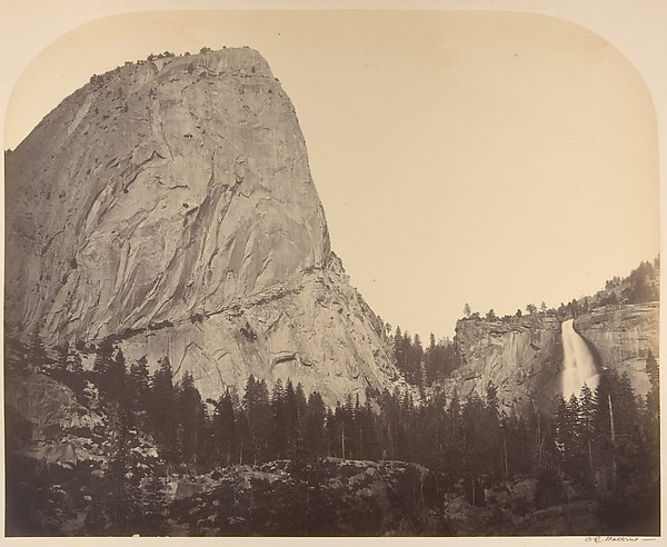 Mt. Broderick and Nevada Fall. Fall = 700 ft.