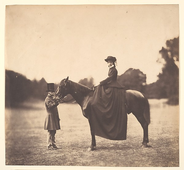 [Lady on Horseback]