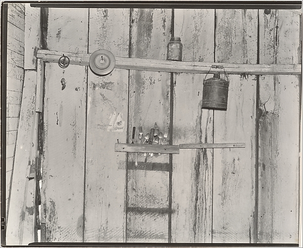 Kitchen Wall in Bud Field's Home, Hale County, Alabama
