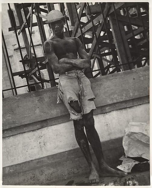 [Shirtless Young Man Wearing Ripped Shorts, on Street, Haiti]