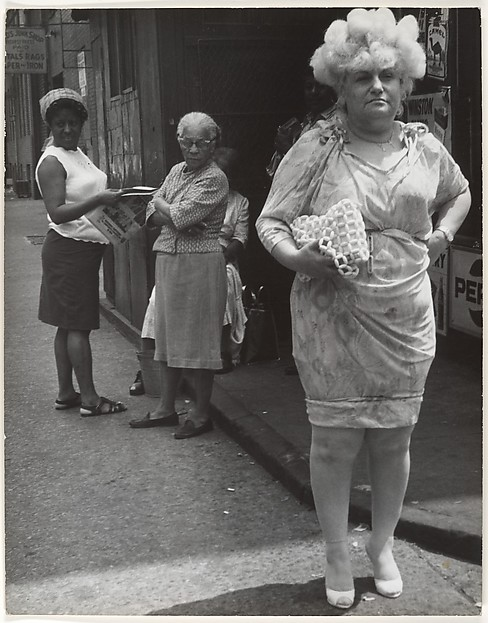 [Street Scene: Woman in Blonde Wig and Tight Dress, New York City]