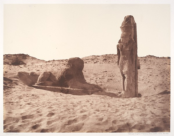 Séboûah, Temple, Colosse et Sphinx de la Partie Gauche de l'Avenue