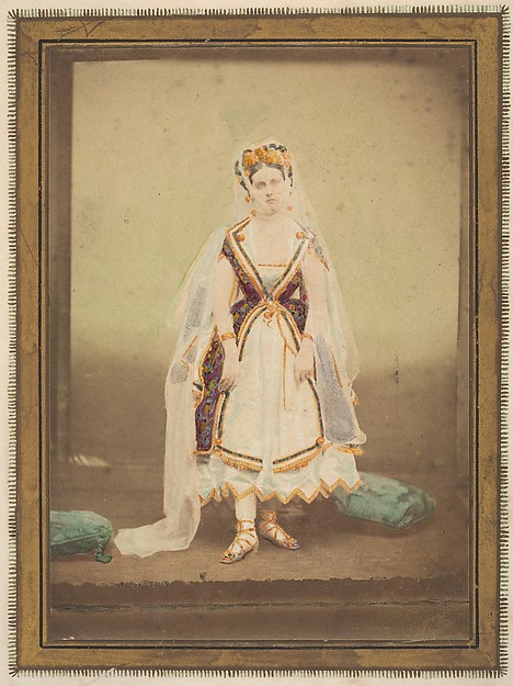 [La Comtesse in robe de piqué' or as Judith (?)]