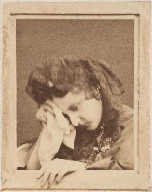 "[La Comtesse ""in despair"" with Kerchief to Face]"