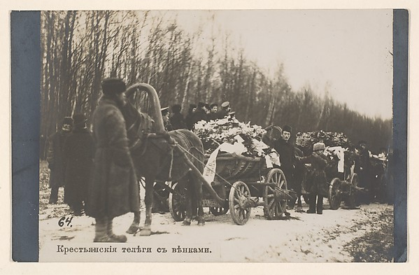 Peasant Carts with Funeral Wreaths