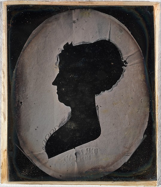 Fascinating Historical Picture of Unknown with [Paper Silhouette Portrait of a Woman] in 1840