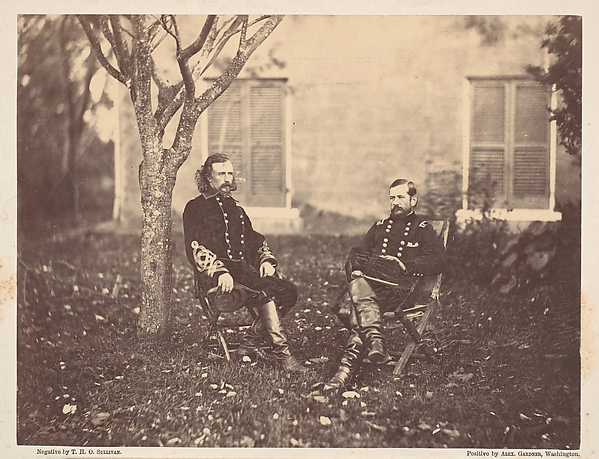 Major General Pleasanton and General Custer