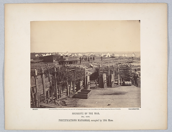 Fortifications, Manassas, Occupied by 13th Mass.