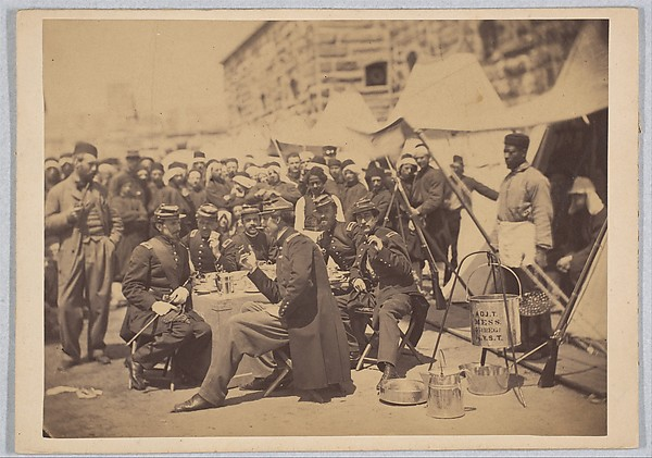 Fascinating Historical Picture of Stacy with Duryea Zouaves Fort Schuyler Adjuant Mess on 5/18/1861