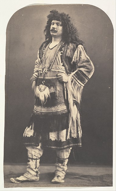 [Self Portrait in American Indian Costume]