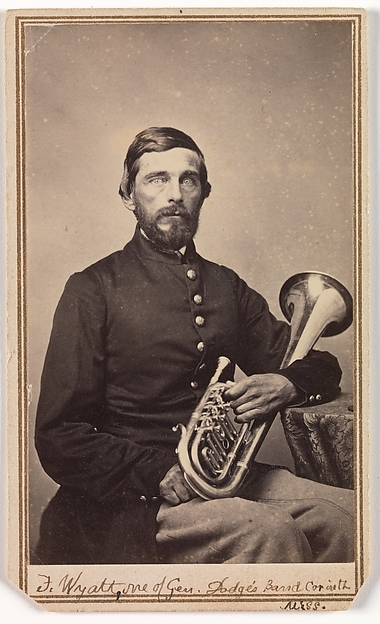 Fascinating Historical Picture of George W. Armstead with Frank Wyatt One of General Dodges Band Corinth Mississippi on 9/18/1863