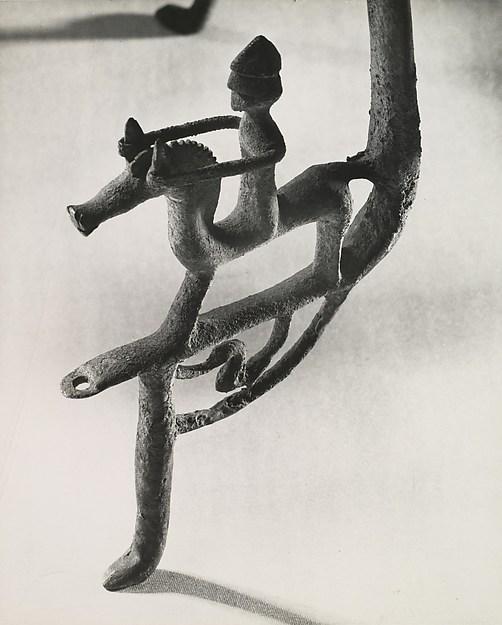 [Etruscan Cauldron of the 7th Century B.C., Figure on Leg]