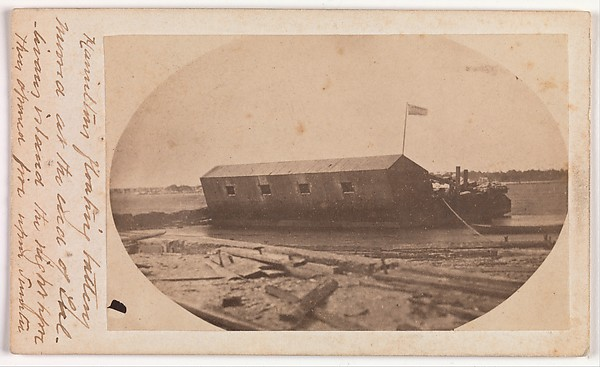 Hamilton's Floating Battery Moored at the End of Sullivan's Island the Night Before They Opened Fire upon Fort Sumter