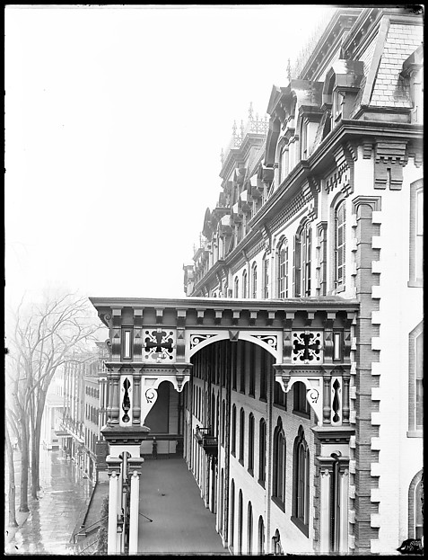 [Side View of Grand Union Hotel Porch, Saratoga Springs, New York]