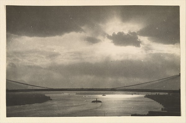 [The East River and the Brooklyn Bridge, Seen from the Span of the Manhattan Bridge, New York City]
