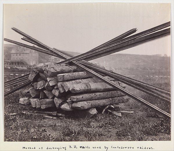 Confederate Method of Destroying Rail Roads at McCloud Mill, Virginia