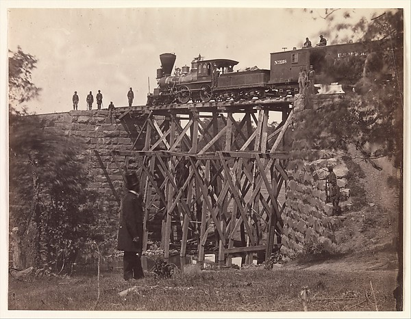 Bridge on Orange and Alexandria Rail Road, as Repaired by Army Engineers under Colonel Herman Haupt
