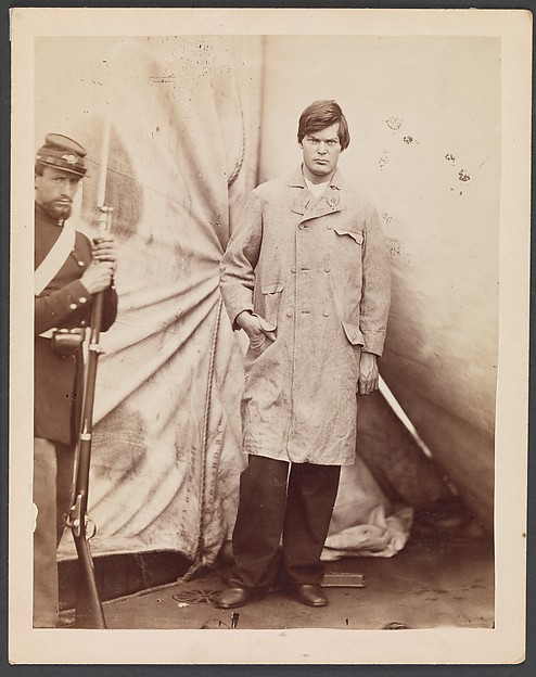 Fascinating Historical Picture of Alexander Gardner with Lewis Powell [alias Lewis Payne] on 4/27/1865