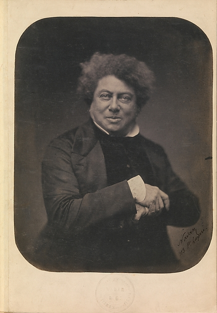 Fascinating Historical Picture of Nadar with [Album Containing Photographs Engravings Drawings and Publications Pertaining to Alexandre Dumas] on 11/15/1855