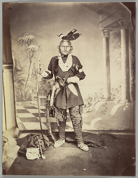 [Studio Portrait of Plains Indian]