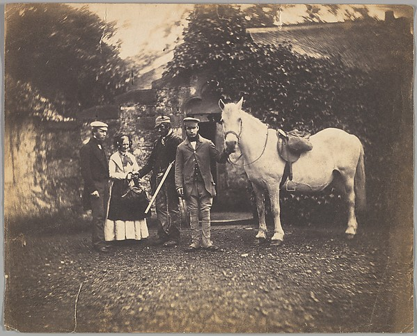 Fascinating Historical Picture of Unknown with [Rural Group with Horse] in 1850