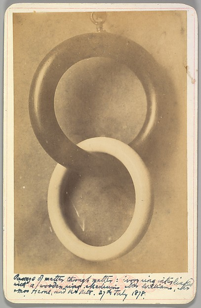 Fascinating Historical Picture of Charles Williams with Passage of Matter Through Matter on 7/27/1878