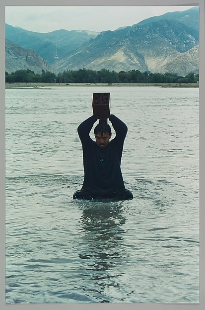 Printing on Water (Performance in the Lhasa River, Tibet, 1996)
