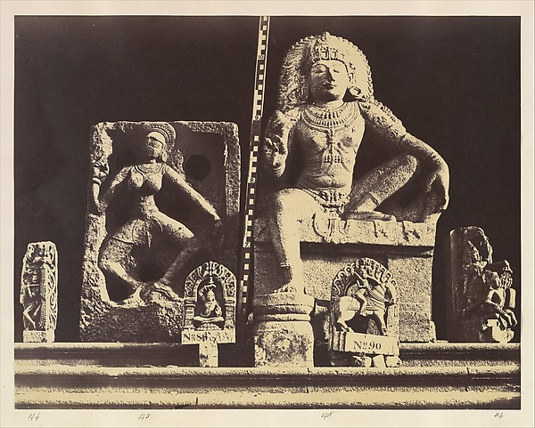 Fascinating Historical Picture of Linnaeus Tripe with Elliot Marbles and Other Sculpture from the Central Museum Madras| Group 26 on 5/15/1858