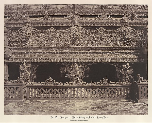 Fascinating Historical Picture of Linnaeus Tripe with Amerapoora| Part of Balcony on the South Side of Maha-oung-meeay-liy-mhan Kyoung on 9/1/21