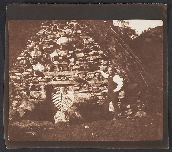 This is What William Henry Fox Talbot and Highland Hut Loch Katrine Looked Like  on 10/15/1844